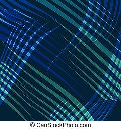 blu, astratto, vettore, linea, fondo