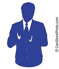 blu, avatar, uomo affari