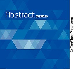 blu, backg, astratto, vettore, triangolo