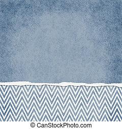 blu, backgr, quadrato, grunge, strappato, zigzag, chevron, textured, bianco