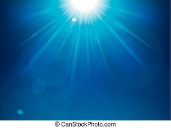 blu, bagliore, illustrazione, lente, luci, vettore, fondo, lucente