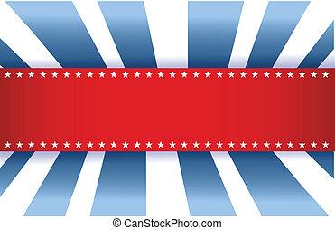 blu, bandiera americana, bianco, disegno, rosso