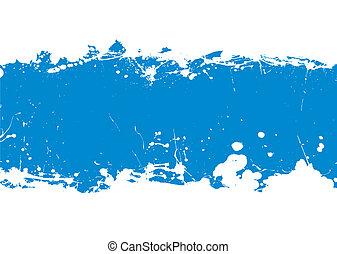 blu, bandiera, splat, inchiostro