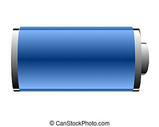 blu, batteria, sfondo bianco, colorare