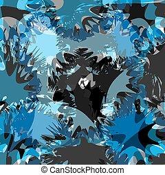 blu, blots, astratto, illustrazione, luminoso, vettore, fondo