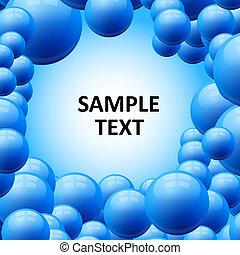 blu, bolle, vettore, astratto, fondo