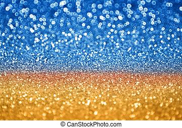 blu, brillare, oro