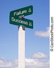 blu, c, successo, incrocio, fallimento, segnali stradali, segno, viale, cieli