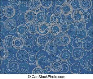 blu, caotico, astratto, grigio, modelli, fondo