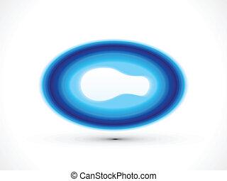 blu, cerchio, lucido, astratto