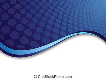 blu, cerchio, vettore, fondo