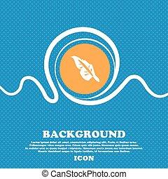 blu, chiazzato, spazio, testo, segno., bianco, tuo, vettore, fondo, penna, icona, astratto, design.