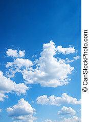 blu, cielo luminoso, colorito, fondo