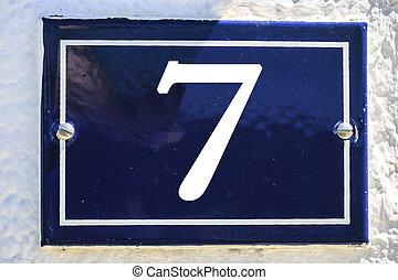 blu, colorare, numero, casa