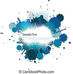 blu, colorare, schizzo, tono