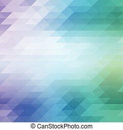 blu, colorato, astratto, verde, triangoli, fondo, shades., mosaico