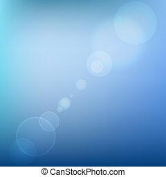 blu, colorato, bagliore, astratto, light., lente, vettore, fondo, morbido