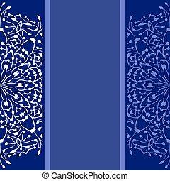 blu, copia, fondo, spazio