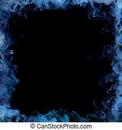 blu, cornice, fumo
