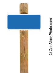 blu, cornice spaziale, segno metallo, fondo, asse, signage, bianco, copia