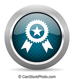 blu, cromo, fondo, bordo, icona, argento, premio, bianco