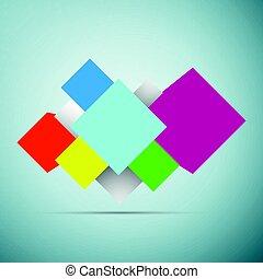 blu, cubi, astratto, isolato, illustrazione, fondo., vettore, fondo, icona, 3d