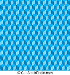 blu, cubi, astratto, seamless, fondo., vettore, 3d