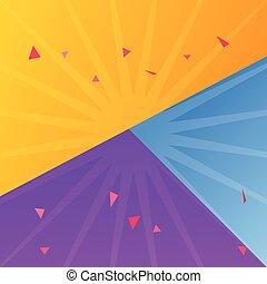 blu, differente, colorare, illustrazione, carta, viola, vettore, fogli, giallo, fondo