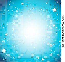 blu, disegno, stelle, fondo