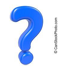 blu, domanda, isolato, marchio, white.