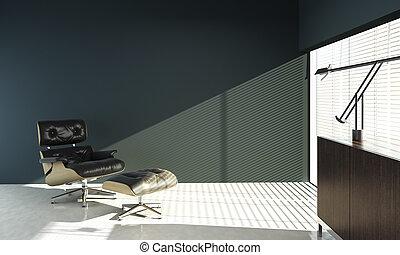 blu, eames, parete, disegno, interno, sedia