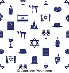 blu, ebraismo, modello, seamless, simboli, religione, eps10