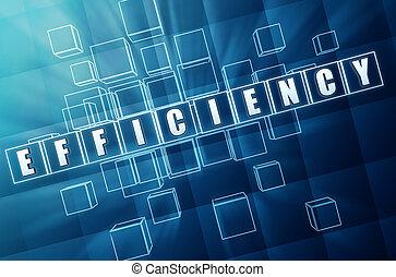 blu, efficienza, cubi, vetro