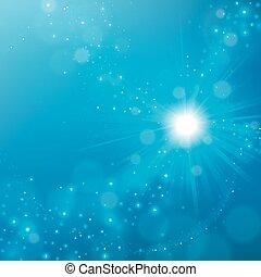blu, elegante, astratto, splendere