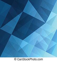 blu, eps10, astratto, fondo., vettore, triangoli