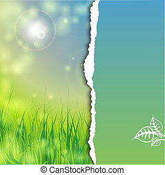 blu, erba, cielo verde