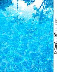 blu, estate, astratto, mare, fondo