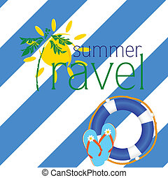 blu, estate, viaggiare, fiasco, buffetto