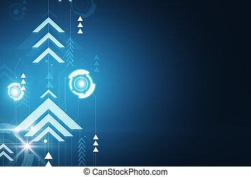 blu, fondale, digitale