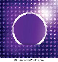 blu, fondo., astratto, vettore, cerchio