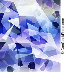 blu, fondo., astratto, vettore, illustration.