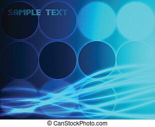 blu, fondo., astratto, vettore