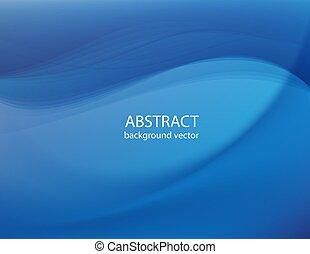 blu, fondo., linea, astratto, vector.