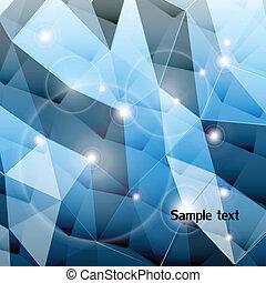 blu, fondo., vettore, triangolo