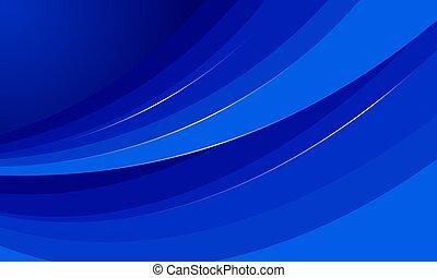 blu, forma astratta, curva, fondo., vettore, illustration.