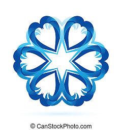 blu, forma astratta