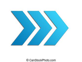 blu, frecce
