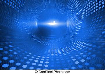 blu, futuristico, fondo