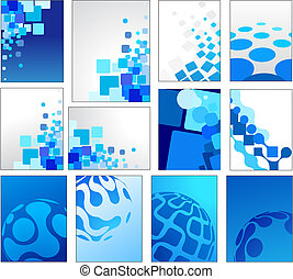 blu, geometrico, vettore, sfondi