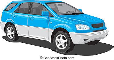 blu, gioca veicolo utilità